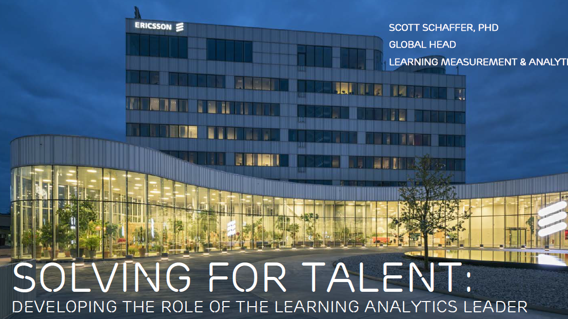 Solving for Talent: Developing the Role of the Learning Analytics Leader