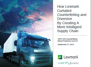 How Lexmark Curtailed Counterfeiting and Diversion By Creating A More Intelligent Supply Chain
