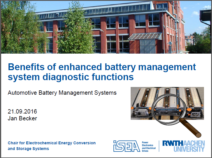 Benefits of enhanced battery management system diagnostic functions