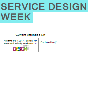 2017 Service Design Week Attendee List