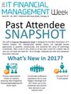 ITFM Week 2017 Attendee Snapshot