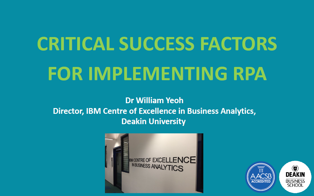 Robotic Process Automation: Barriers to Implementation and Critical Success Factors