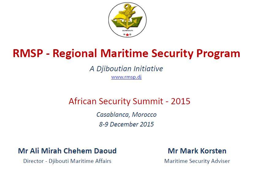 AFSEC 2015 presentation -  Ali Mirah Chehem Daoud, Director - Djibouti Maritime Affairs