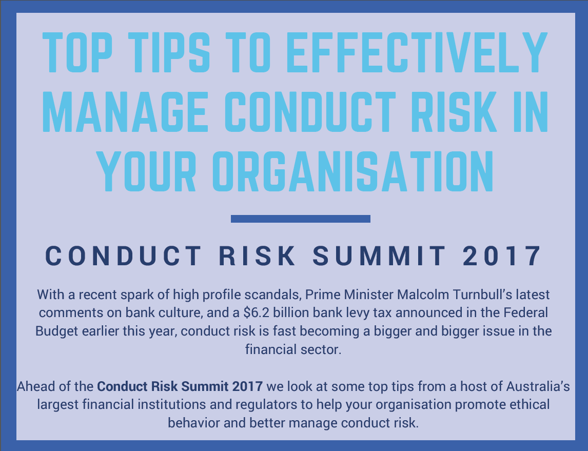 Top Tips to Effectively Manage Conduct Risk in your Organisation