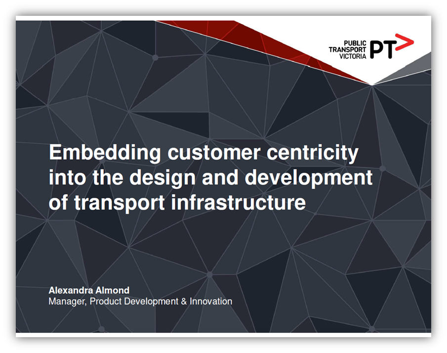 Embedding Customer Centricity into the Design and Development of Transport Infrastructure