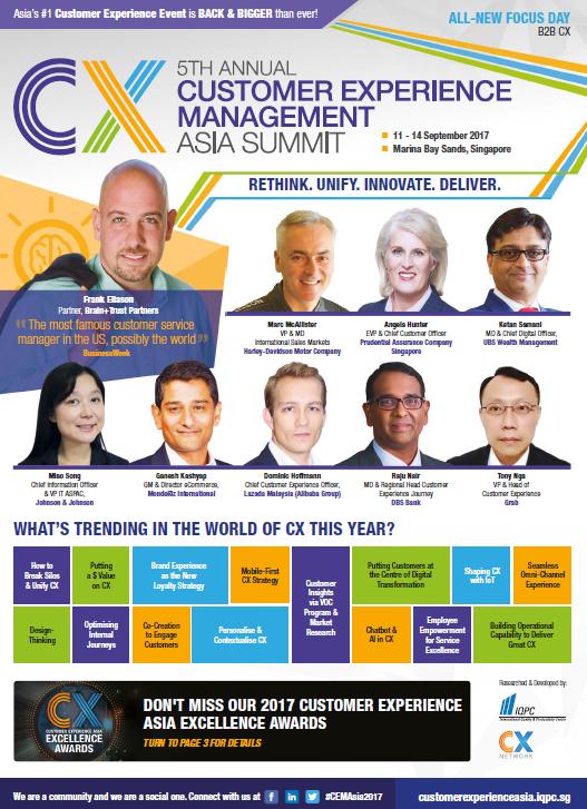 Customer Experience Asia Summit 2017 Agenda