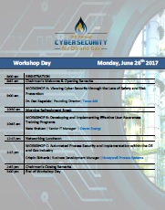 Cyber Oil and Gas Onsite Agenda