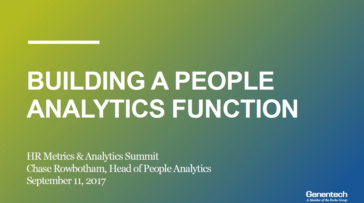Building a People Analytics Function