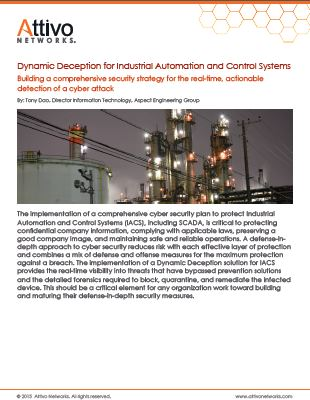 Dynamic deception for industrial automation and control systems