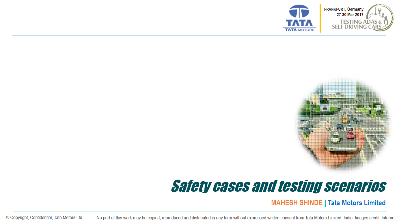 Tata Motors Presentation on ADAS - Safety Cases and Testing Scenarios