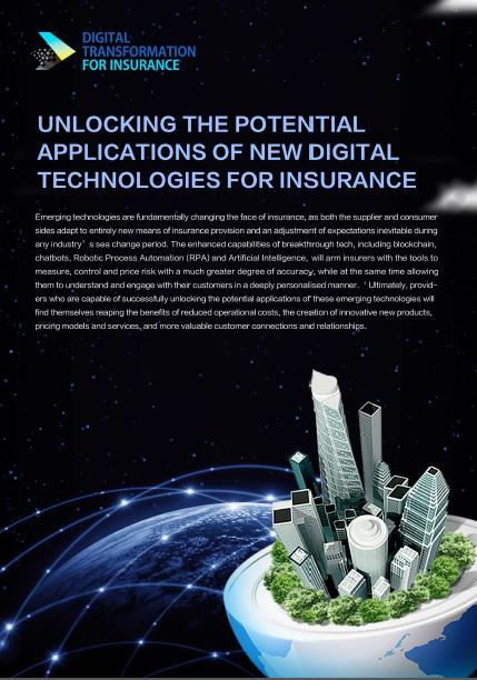 Unlocking the Potential Applications of New Digital Technologies for Insurance