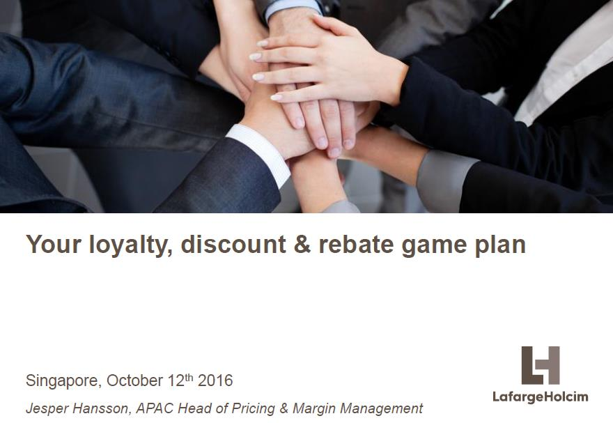 Your loyalty, discount & rebate game plan
