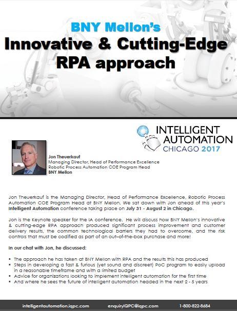 BNY Mellon's  Innovative & Cutting-Edge  RPA Approach