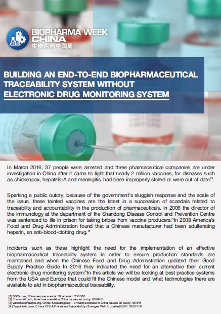 Building an End-to-End Biopharmaceutical Traceability System without Elec-tronic Drug Monitoring System
