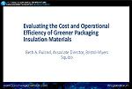 Evaluating Greener Packaging Insulation Materials