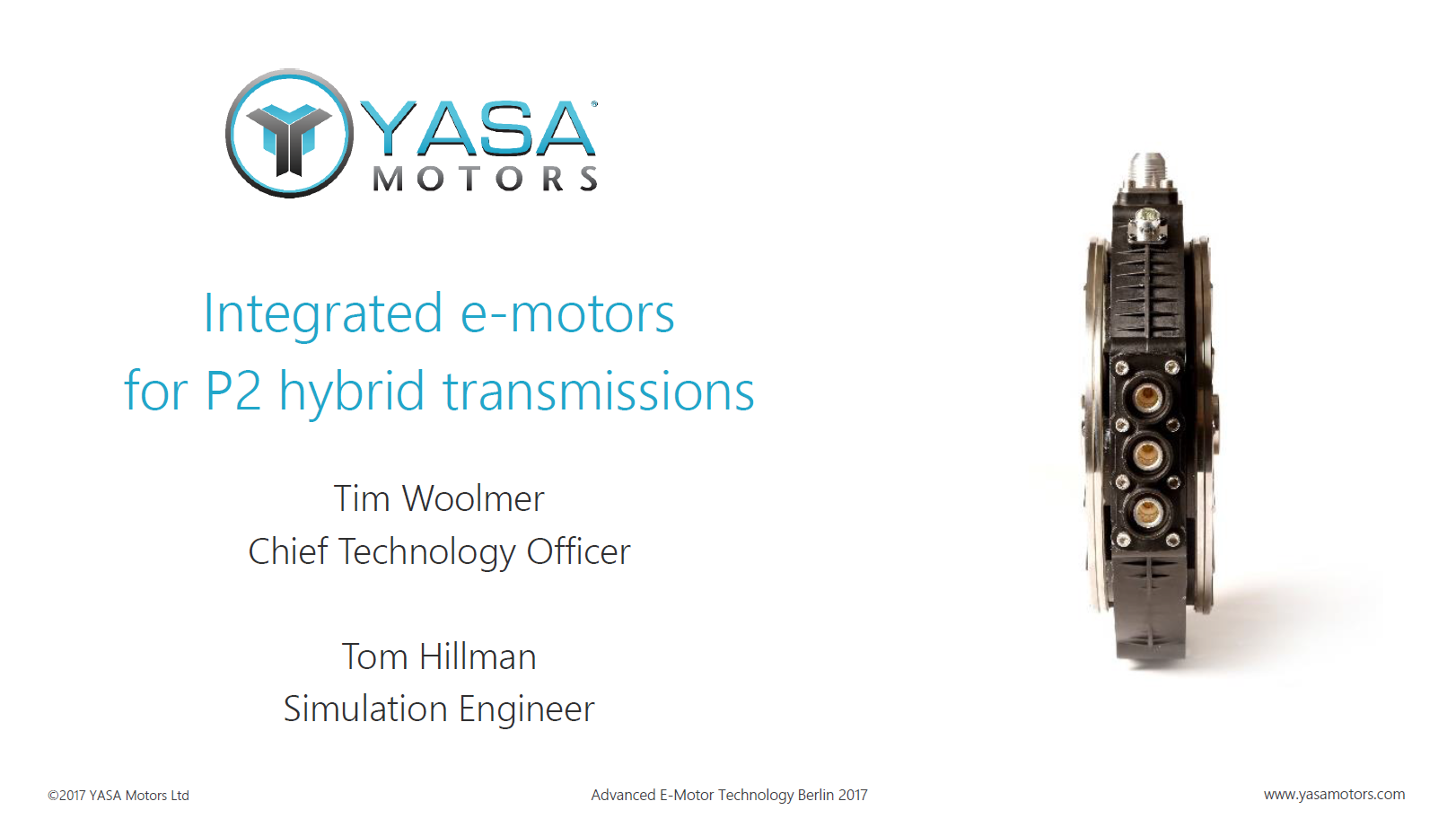 Presentation on innovative e-motor concepts & solutions