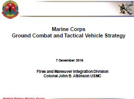 Ground Combat Vehicle Requirements for the USMC