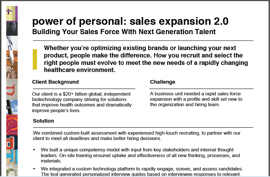 Building Your Sales Force With Next Generation Talent