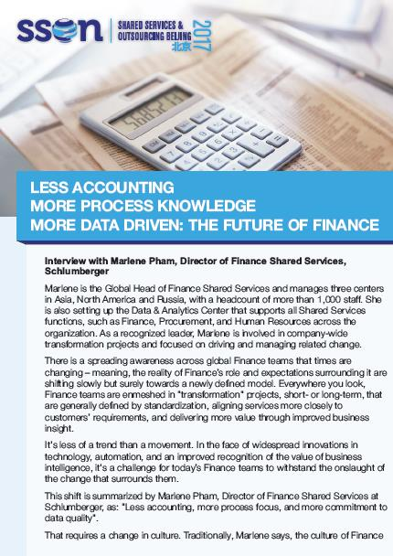 Less Accounting More Process Knowledge More Data Driven The Future of Finance