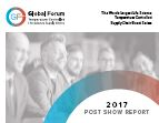 2017 Global Forum Annual Post Show Report