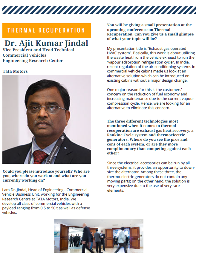Interview with Dr. Ajit Kumar Jindal from TATA Motors