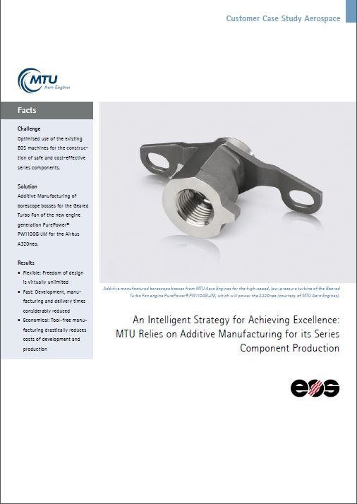 EOS Customer Case Study - Aerospace - MTU Aero engines