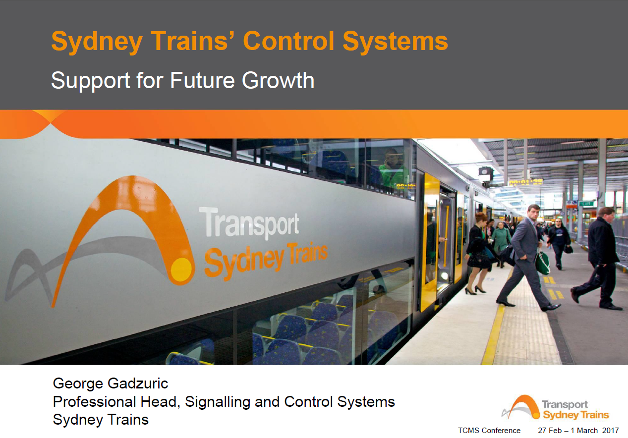 Sydney Trains' Control System Support for Future Growth