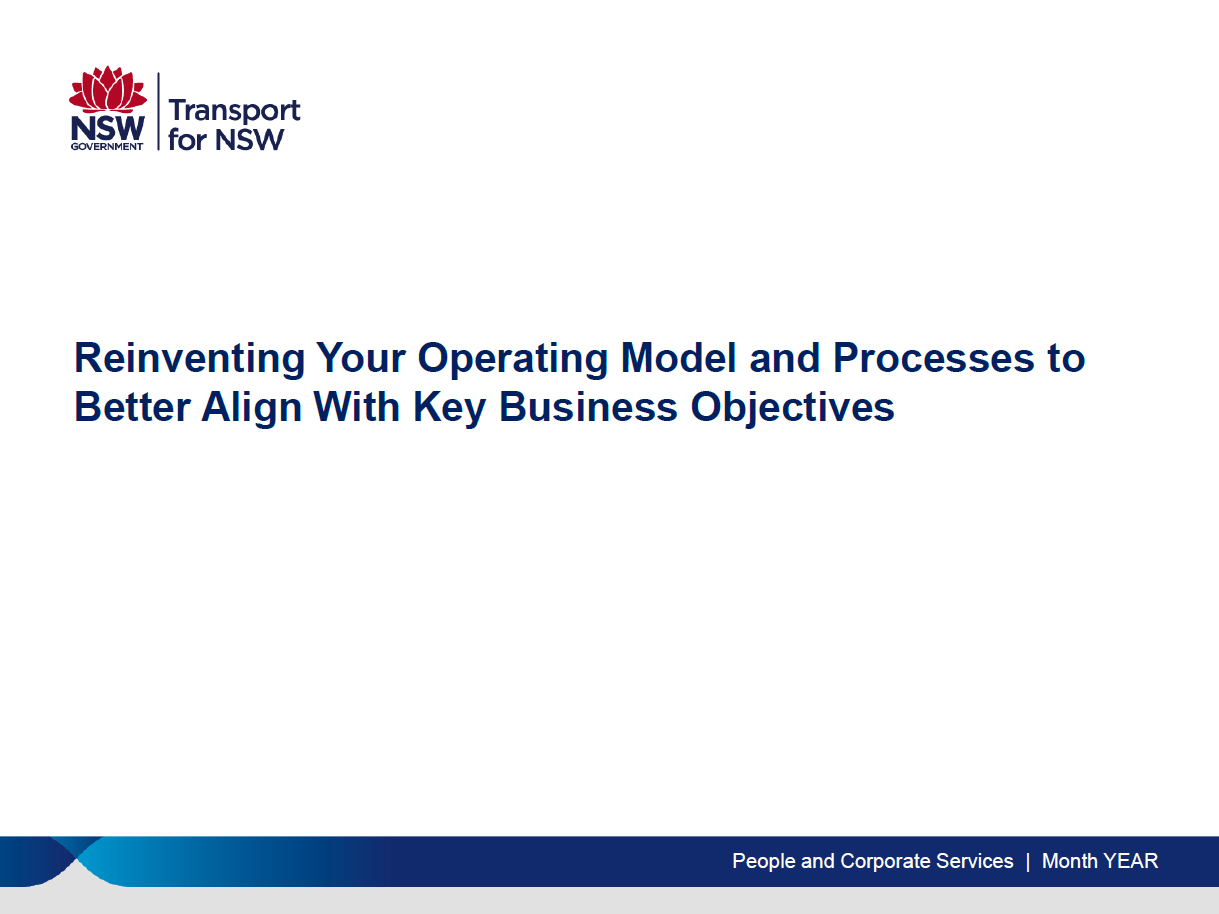 Reinventing Your Operating Model to Better Align with Key Business Objectives