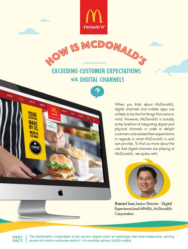 How is McDonalds Exceeding Customer Expectations via Digital Channels
