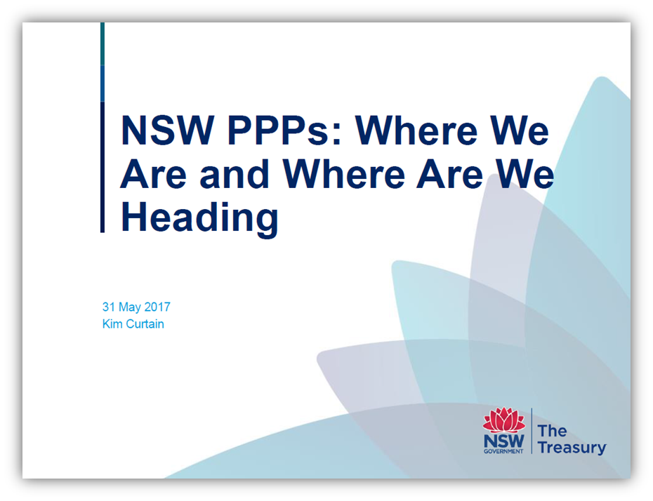 NSW PPPs: Where We Are and Where Are We Heading
