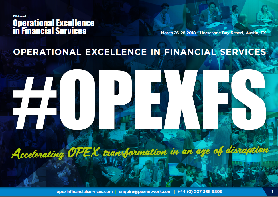 Operational Excellence in Financial Services 2018 Agenda