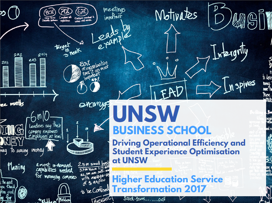 Integrating Service Optimisation Strategies to Drive Efficiency and Student Experience at UNSW
