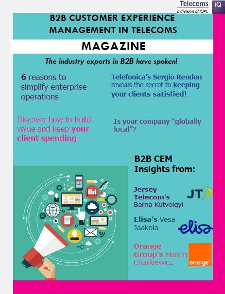 B2B Customer Experience Management in Telecoms Magazine