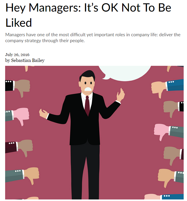 Hey Managers: It's OK Not To Be Liked