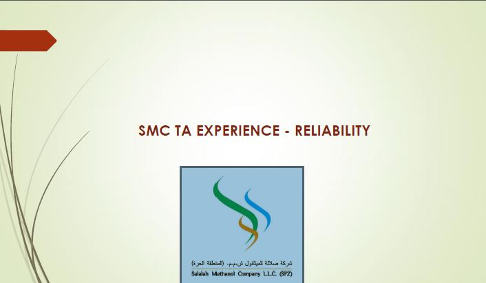 Salalah Methanol Company's turnaround inspection planning and execution process