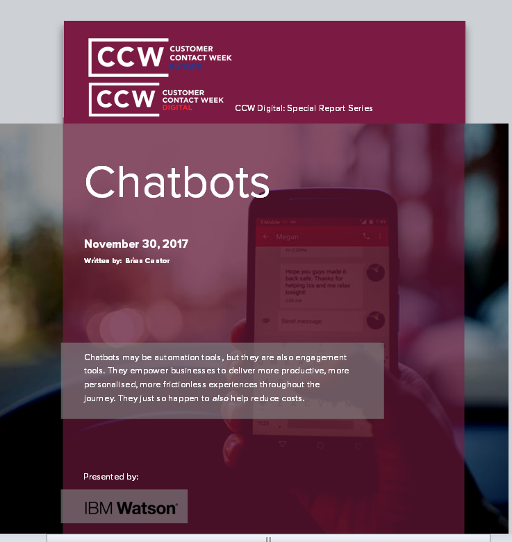 CHATBOTS: SPECIAL REPORT
