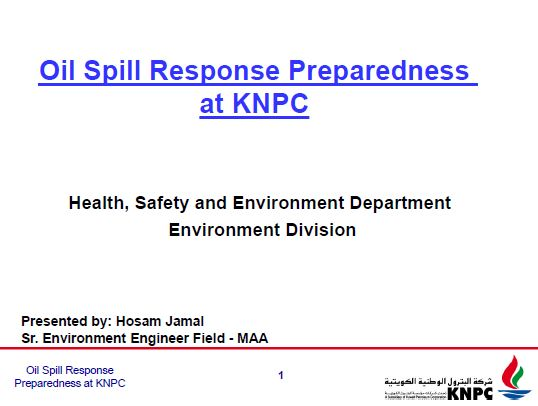 KNPC's presentation on: Oil spill preparedness