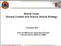 Ground Combat and Tactical Vehicle Strategy