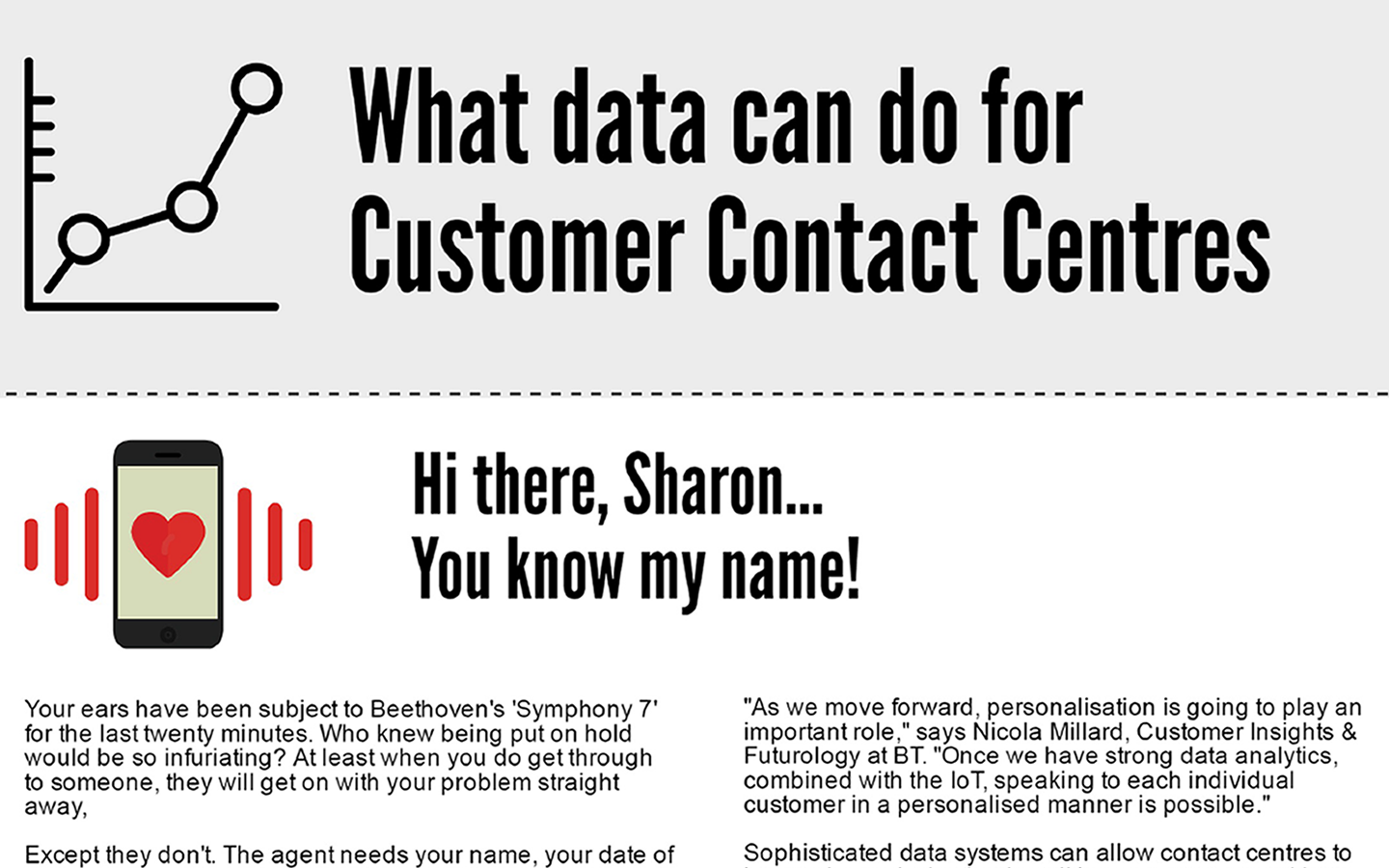 WHAT DATA CAN DO FOR CUSTOMER CONTACT CENTRES