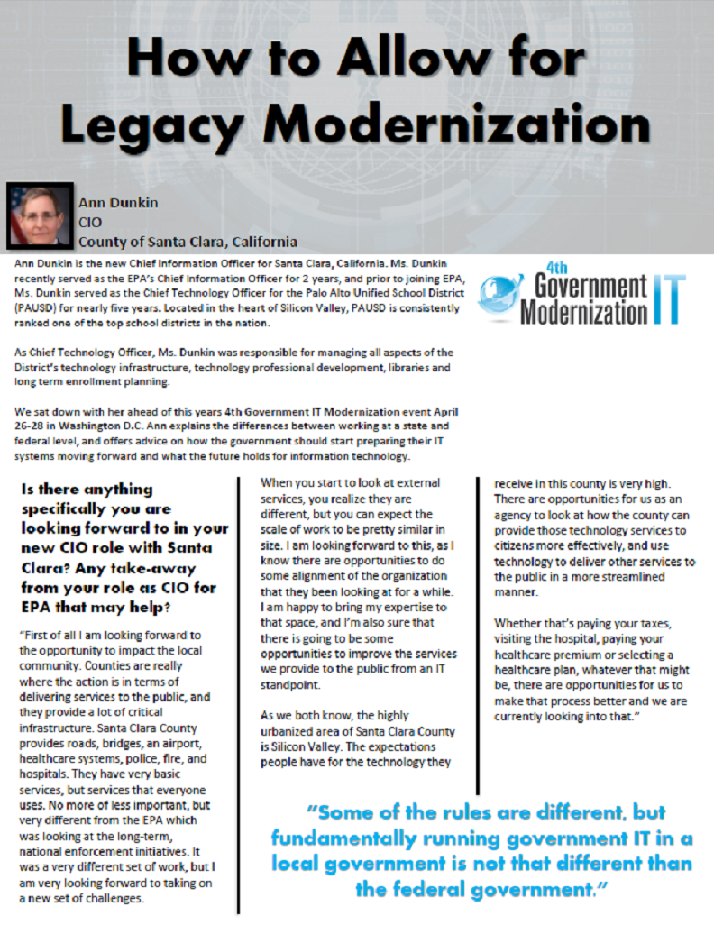 How to Allow for Legacy Modernization