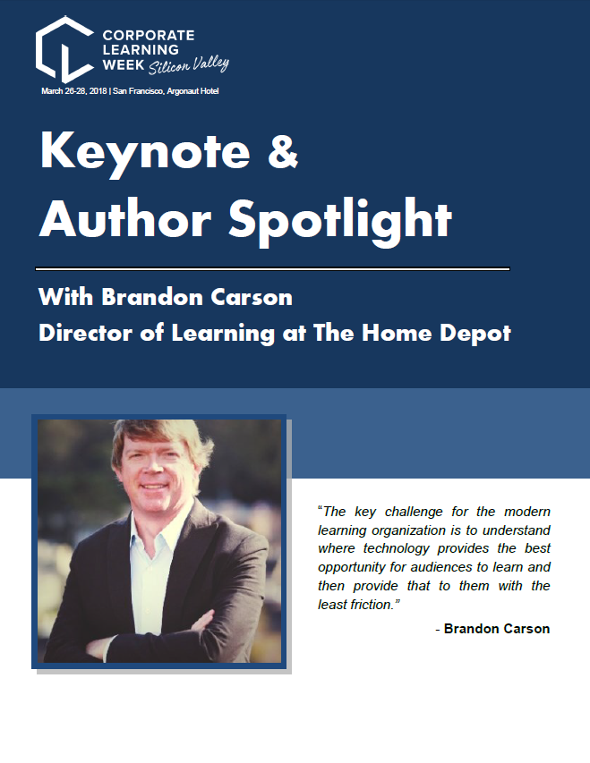 Keynote & Author Spotlight: Brandon Carson, Director of Learning at The Home Depot