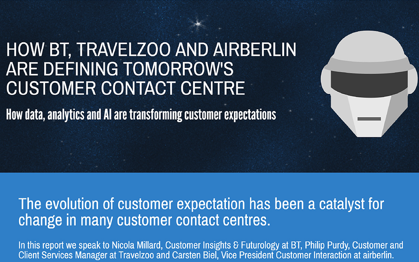 HOW BT, TRAVELZOO AND AIRBERLIN ARE DEFINING TOMORROW'S CUSTOMER CONTACT CENTRE