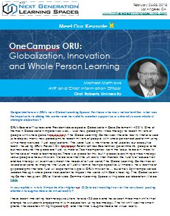 Globalization, Innovation and Whole Person Education: Inside OneCampus ORU
