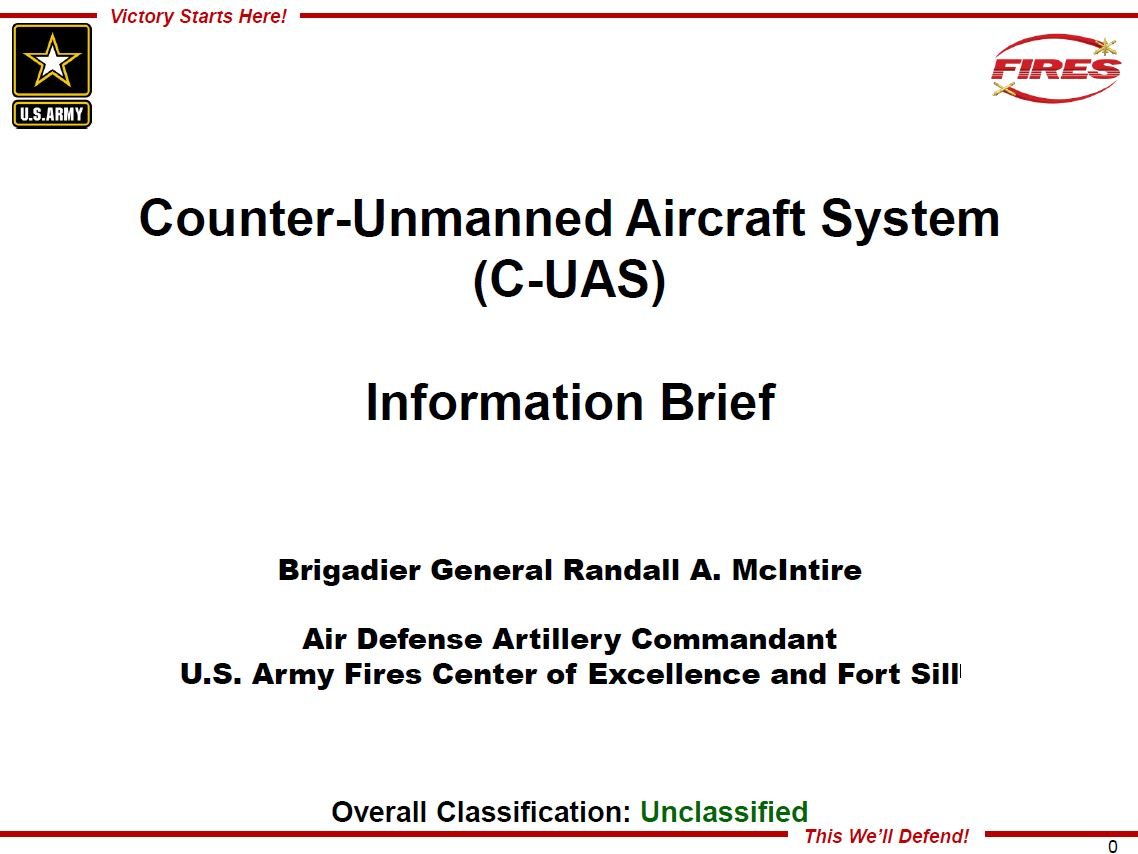 Counter-Unmanned Aircraft System - Brig Gen Randall A. McIntire
