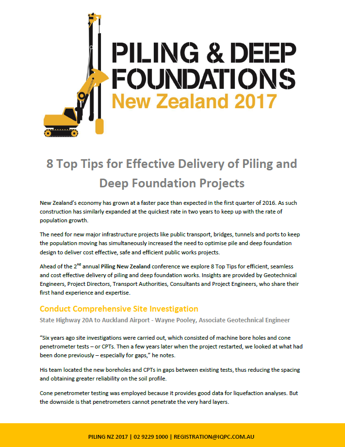 8 Top Tips for Effective Delivery of Piling and Deep Foundation Projects