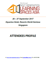 Attendee Profile - 3rd Annual Next Generation Learning Spaces Asia