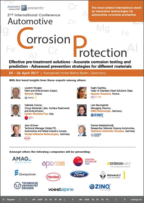 Automotive Corrosion Protection Agenda 2017