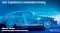 User Experience in Automated Driving