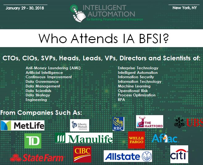 Anticipated Attendee Snapshot: Intelligent Automation Banking, Financial Services and Insurance