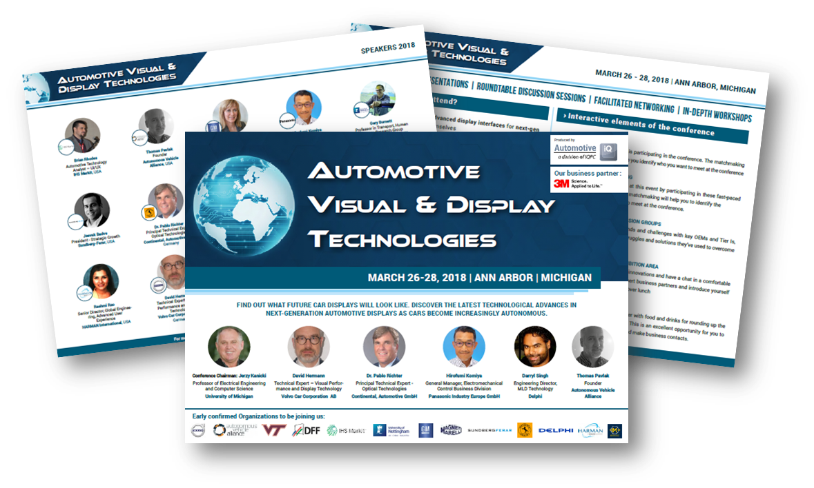 Automotive Visual and Displays Technologies Conference USA 2018